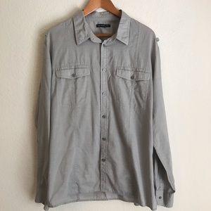 John Varvatos XXL Light Brown Button Up Shirt